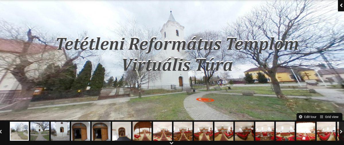 Virtuális túra a megszépült Tetétleni Református Templomban